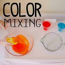 color mixing science station busy toddler