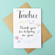 thank you for helping me grow greetings card