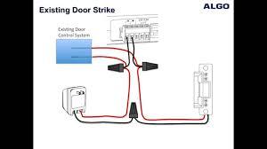 how to wire a door strike to an algo 3226 3228 and 8028 doorphone