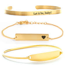personalized gold bracelets engraved bracelets personalized bracelets