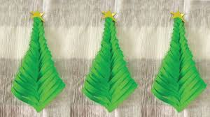 how to make a simple paper christmas tree christmas crafts
