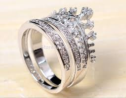 crown engagement rings images Free shipping size5 11 coronet lady engagement ring set queen jpg