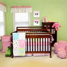 pleasing pink and green nursery decor excellent home decoration