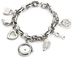 anne klein charm bracelet watches images Anne klein women s 10 7605chrm swarovski crystal silver tone charm jpg
