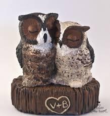 owl cake toppers bird wedding cake toppers my custom cake topper