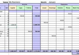 excel template income and expenses small business income and