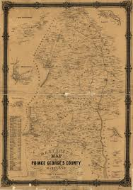 prince georges county map detailed 1861 map of prince george s county ghosts of dc