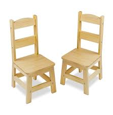 amazon com melissa u0026 doug solid wood chairs set of 2 light