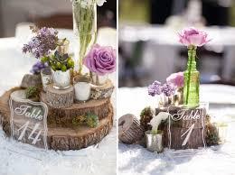 Purple Wedding Centerpieces Rustic Purple Wedding Centerpieces Ipunya