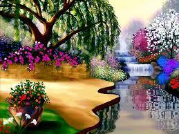 flower garden wallpaper background interior design