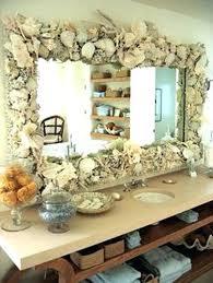how to decorate bathroom mirror seashell decorations for bathroom fantastic bathroom mirror frame