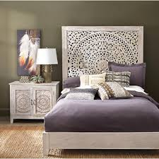 home decorators collection chennai white wash queen platform bed