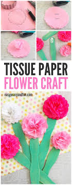 tissue paper flowers printable instructions tissue paper flower craft easy peasy and fun