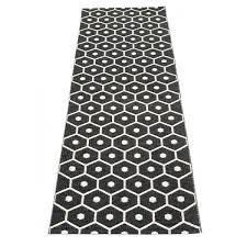 tapis cuisine noir honey tapis plastique 70x160cm made in live