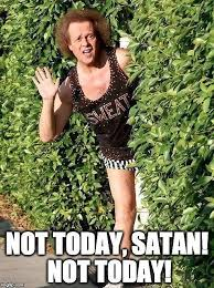 Richard Simmons Memes - not today satan richard simmons meme graphic t shirt by akl85ky