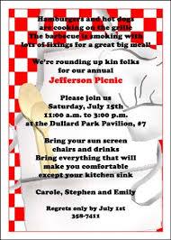 picnic invitation picnic table barbecue and picnic invitations