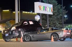 corvette car crash corvette ends up suv during crash local billingsgazette com