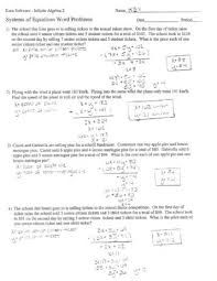 system of equation word problems worksheet free worksheets library
