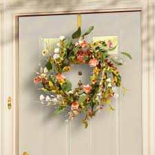 flower wreath national tree co 22 flower wreath reviews wayfair