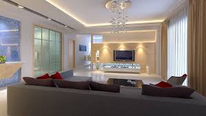 new luxury living room interior lighting design with best lighting