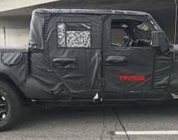 jeep truck spy photos 2019 jeep wrangler sahara spy doors the fast lane truck
