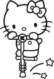 coloringpages cute hello kitty colouring pictures