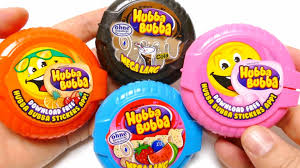 wrigley mega long hubba bubba chewing gum tape 4 flavour video