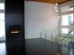mode concrete modern and super cool black concrete floor on wood