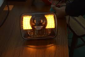 lj jeep truck 2pcs square 7 inch 30w led headlight 9 60v ip67 for jeep wrangler