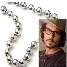 silver ball beads necklace images 24 inch 8mm silver stainless steel ball beads chain necklace for jpg
