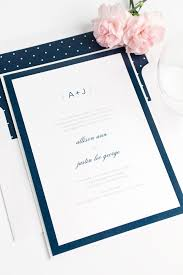 navy blue wedding invitations sophisticated modern wedding invitations in navy blue wedding