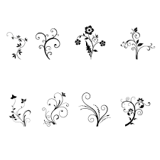 swirls and ornaments design elements stock graphics