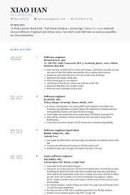 software developer resume template software engineer resume