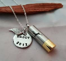 memorial necklace for ashes stainless steel shotgun shell cremation jewelry cylinder with