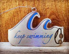personalized swimming ornament for boys personalized