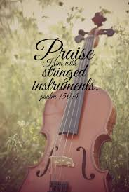 bible verse music scripture quote violin christian print nature