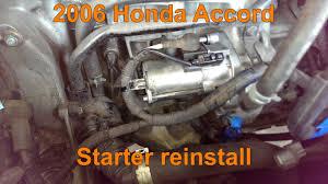 where is the starter on a 2006 honda civic 2006 honda accord starter installation