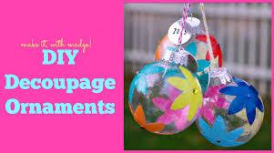 easy diy decoupage glass ornaments
