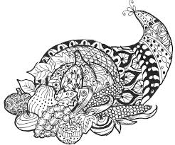 coloring page thanksgiving cornucopia 6