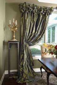 corner window treatment idea but could do this on a long window