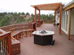 the importance of fire pit mat for wood deck ideas