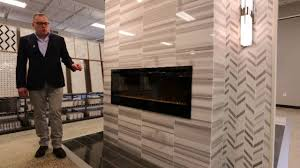Tiled Fireplace Wall by Fireplace U0026 Room Designs Faux Wood U0026 Marble Tile Ideas Youtube