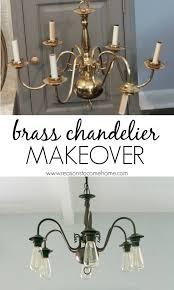 Brass Chandelier Makeover Diy Chandelier Makeover Pinteres