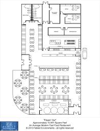 Design Restaurant Floor Plan Modern Floorplans An Average Modern Fast Food Restaurant Fabled