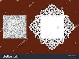 envelope border pattern wedding invitation lace border laser cutting stock vector hd