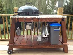 how to build a weber grill table weber kettle grill table great weekend project plein air