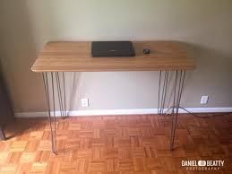 pieds bureau ikea bureau en bambou et métal bidouilles ikea