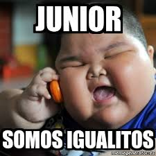 Junior Meme - meme fat chinese kid junior somos igualitos 2574722
