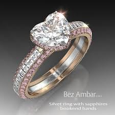 pink and black engagement rings silvet blaze wedding ring set with black diamonds