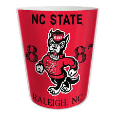 Small Waste Basket by Nc State Wolfpack Small Waste Basket U2013 Red And White Shop